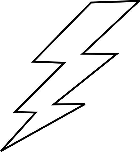 free lightning bolt stencil