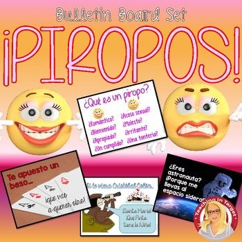 """A set of romantic """"piropos"""" and a couple of funny piropo-style insults (hey, not everyone loves Valentine's Day!) mini-posters to print and hang in your classroom. Also included is a heading """"Piropos!"""" and a poster asking the question """"Qu es un piropo?"""" Is it romantic and welcome or is it harassment and bothersome?"""