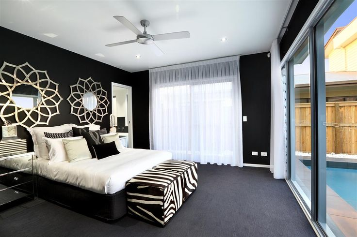 Do you like this black & white master bedroom design? Stylish, Spacious, Stunning. The Stillwater 291, Sunshine Coast display home at Pelican Waters. #GJQLD. Contact us on 132 789 or visit at www.GJGardner.com.au
