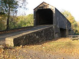 Bucks County, Pennsylvania - Bucks County is home to a number of covered bridges, 10 of which are still open to highway traffic and two others (situated in parks) are open to non-vehicular traffic.