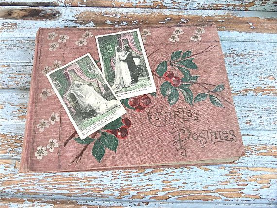 A French flea Market Find Vintage 1920s Postcards by sweetbrocante