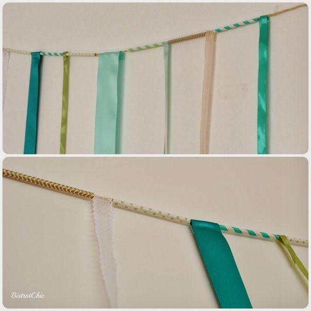 Party backdrop idea! Straws and ribbons!