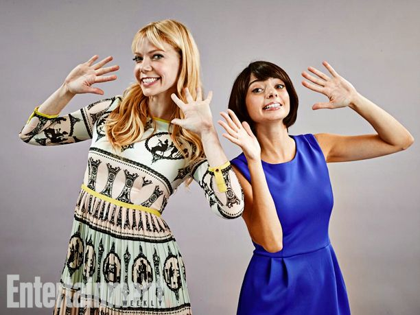 Riki Lindhome and Kate Micucci, a.k.a., Garfunkel and Oates. See more stunning star portraits from our photo studio at San Diego Comic-Con 2014 here: http://www.ew.com/ew/gallery/0,,20399642_20837150,00.html