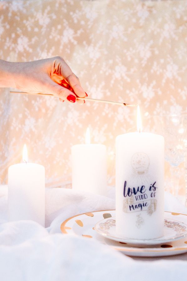 Une technique magique pour imprimer sur des bougies !