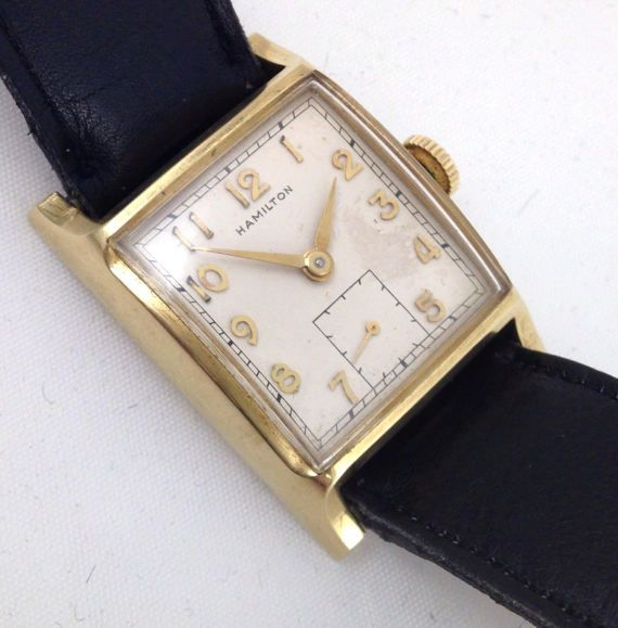 1950 Hamilton Boyd Mens Wrist Watch Grade 747 17J ...