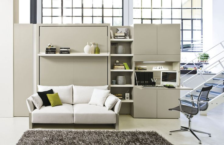 Download the catalogue and request prices of Nuovoliolá 10 By clei, storage wall with fold-away bed design Pierluigi Colombo, nuovoliolà Collection