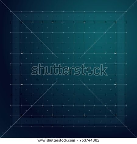 Stock Vector: Grid for futuristic hud interface. Line technology vector pattern. Digital screen interface display, electronic grid for futuristic user…
