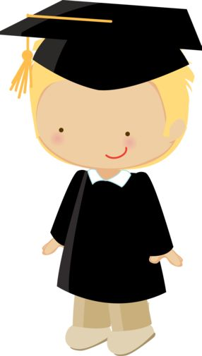 Dibujos - Clipart - Digi stamp - Little graduate boys - Minus
