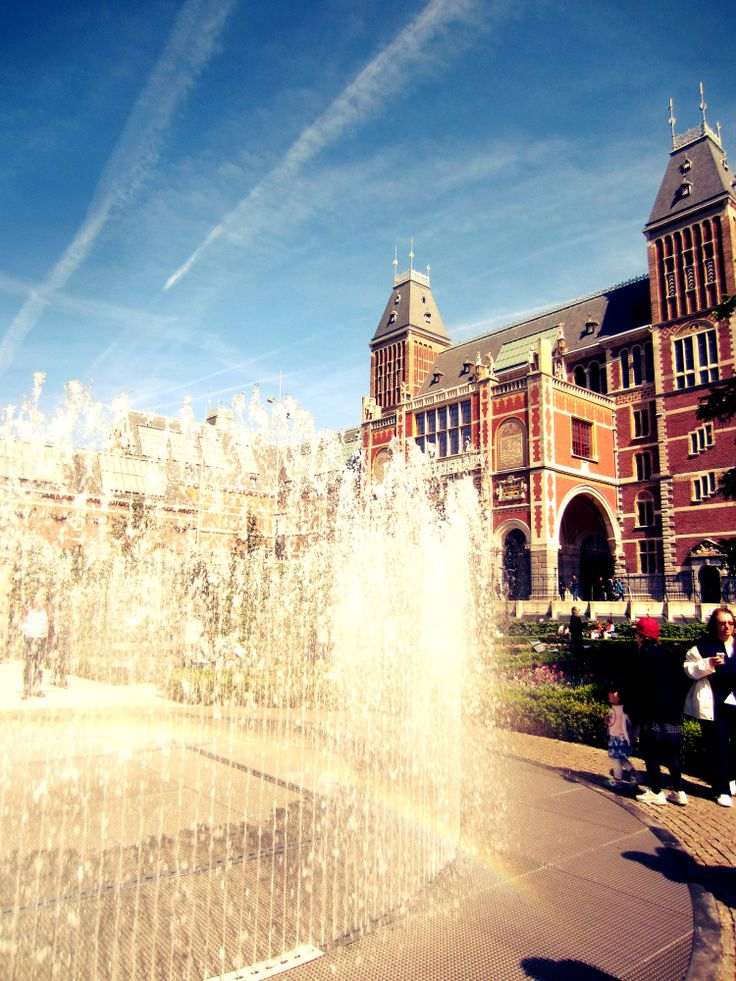 Amsterdam, Spring, Museum, Fountain
