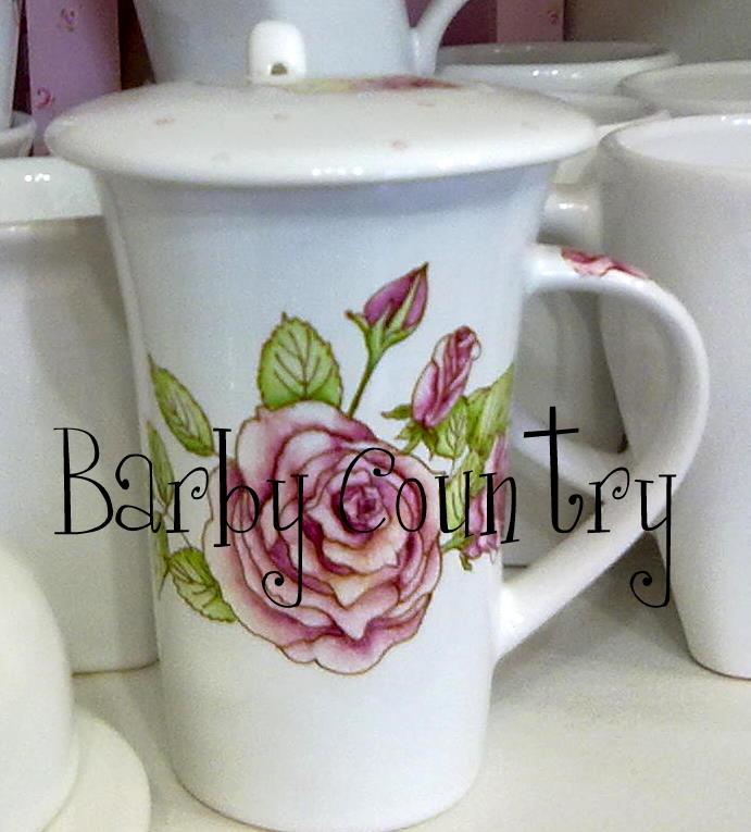 Taza de porcelana pintada a mano.  Prof. Barby Schnabel  barbycountry@hotmail.com