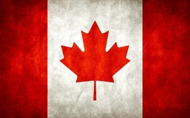 The flag of Canada was officially adopted on February 15,1965.The Canadian Red Ensign,bearing the Union Jack and the shield of the royal arms of Canada,was lowered and then,on the stroke of noon,the new maple leaf flag was raised.The crowd sang the national anthem O Canada, followed by the royal anthem, God Save the Queen.The stylish red maple leaf has been the national symbol of Canada for over 150 years. Red and white are the official colors of Canada, proclaimed by King George V in 1921.