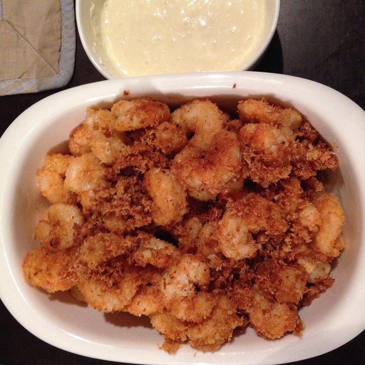Coconut lime shrimp with honey mostard yogurt #gh #glutenfree #glutenfreelife #glutenfreeliving #gflife #gfliving by delicelioso