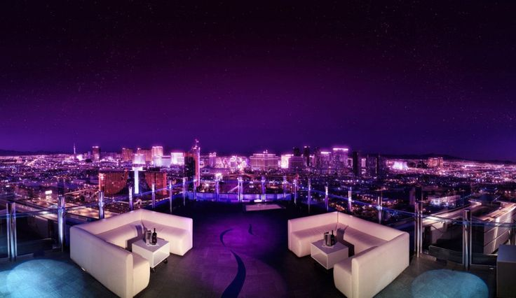 Crazy cool views of the Las Vegas Strip from Ghostbar at the Palms Las Vegas.