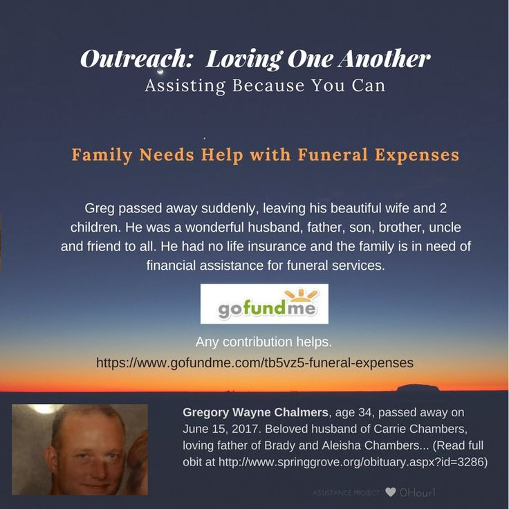 Vicki Hinze (@vickihinze) | Twitter  OUTREACH and Prayer Warriors: Young widow and mom of 2 small children needs help with husband's funeral expenses. https://www.gofundme.com/tb5vz5-funeral-expenses Read Gregory Chalmers Obit at: www.springgrove.org/obituary.aspx?id=3286  #projectlift