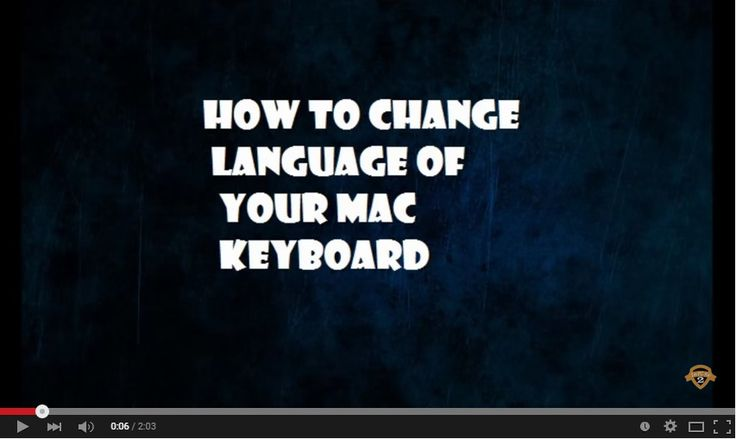 Watch How to Change #Language of Your #Mac Keyboard