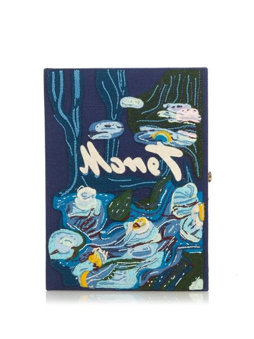 Olympia Le-Tan Water Lilies by Claude Monet book clutch