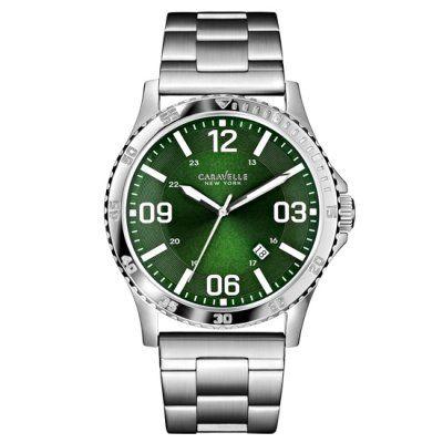 Caravelle New York - Men\'s Logan Green Dial Bracelet Watch - 43B129 - RRP: £89.00 - Online Price: £75.00