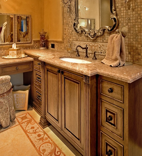 Fashion Bathroom Decor: Mediterranean Powder Room Tuscan