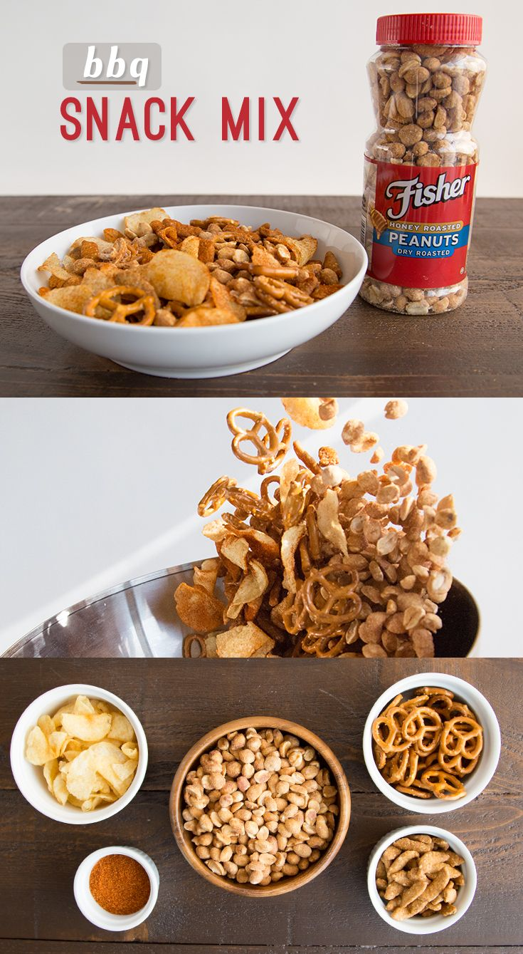 BBQ season calls for BBQ-inspired flavors on and off the grill. Toss together pretzels, sesame sticks, potato chips, and peanuts with any store-bought BBQ seasoning of your choice for a cookout appetizer!  Make this BBQ Snack Mix for your next get-together, or pack in small sandwich bags for an on-the-go afternoon treat.