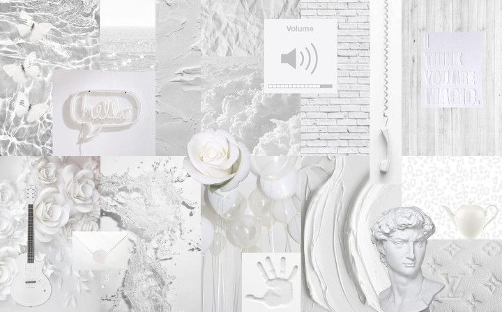 White Collage Desktop Wallpaper Computer Wallpaper Desktop Wallpapers Cute Laptop Wallpaper Laptop Wallpaper Desktop Wallpapers