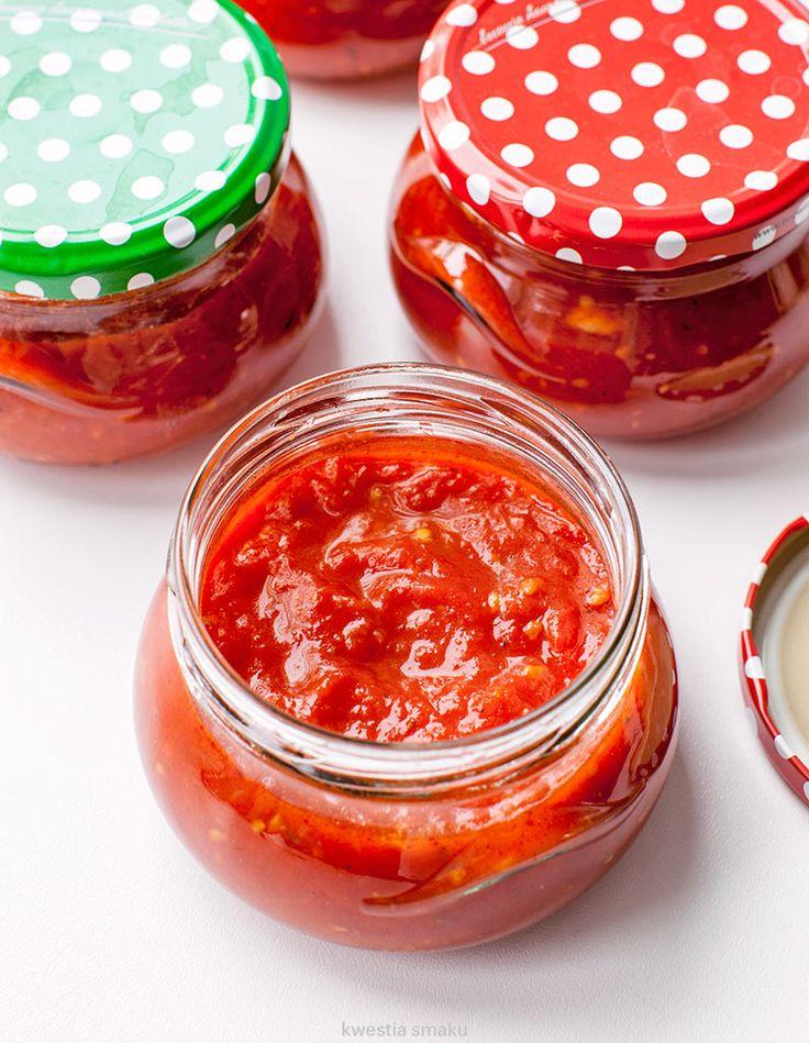 Sos pomidorowy na pizzę - na zimę
