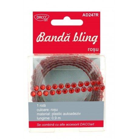 Banda bling rosu DACO
