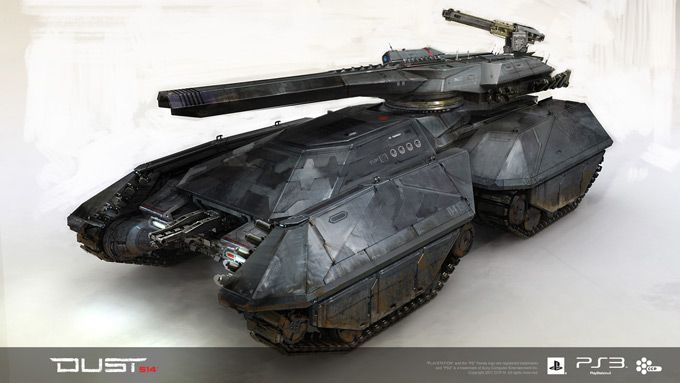 DUST 514 Concept Art Tank, pretty sure this one's a Kemp Remilliard