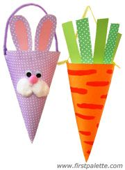 Silly cone-shaped treat holders for Easter or spring!