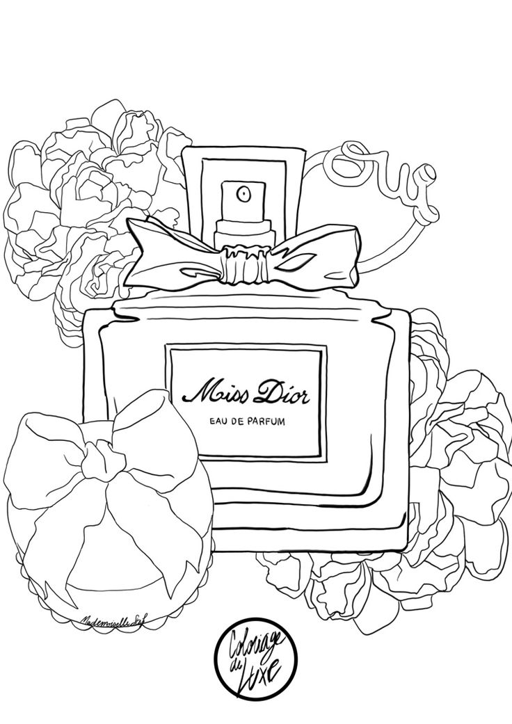 Coloriage / Coloring pages / Miss Dior / http://www.mademoisellestef.com