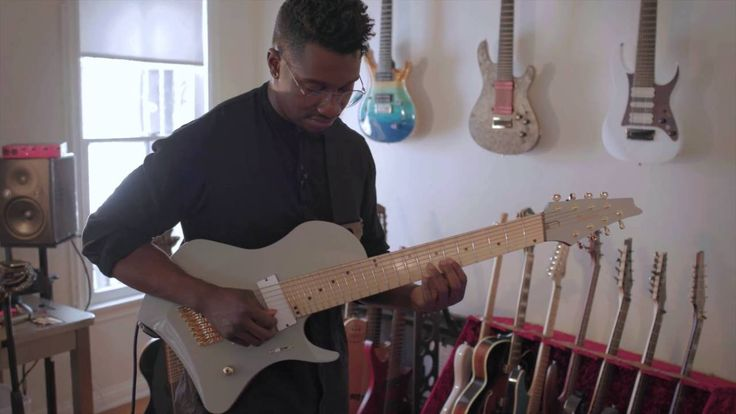 Tosin Abasi of Animals As Leaders walks us through his home set-up with his new signature Ibanez prototype!