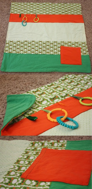 Fisher's Mommy: Frog Tummy Time Mat/ stroller blanket- Baby Shower Gift TagBaby