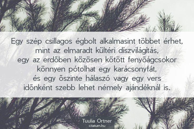 Tuulia Ortner #idézet #karácsony