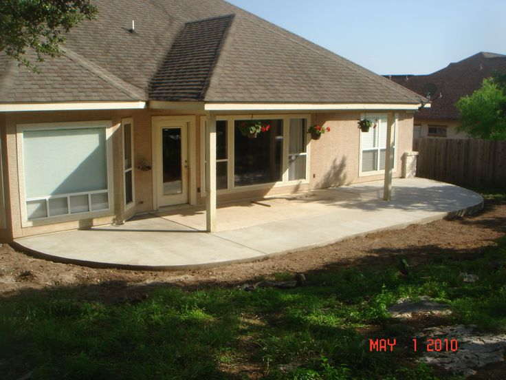 Charming Want To Add This Roof Extension With The Option Of Turning It Into A  Three Season Room Down The Road.then Add A Rubaroc Or Stamped Concrete Patio .