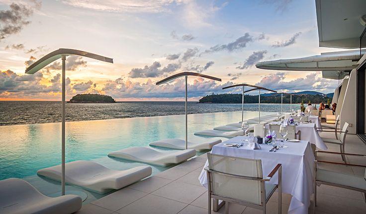 Sit oceanfront and enjoy fine sunset dining at Kata Rocks.