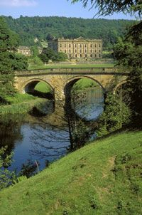 Chatsworth House, Derbyshire, UK location for the latest version of Pride and Prejudice