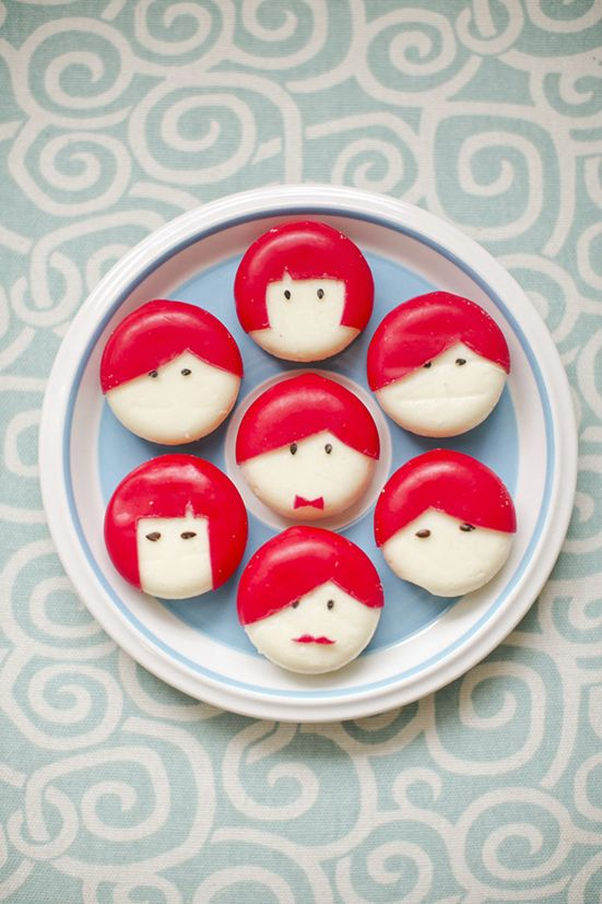 DIY Babybel cheese people // 100 Layer Cakelet