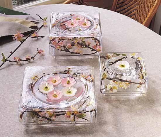 17 best images about centerpieces candles on pinterest for Unique wedding decoration ideas for reception