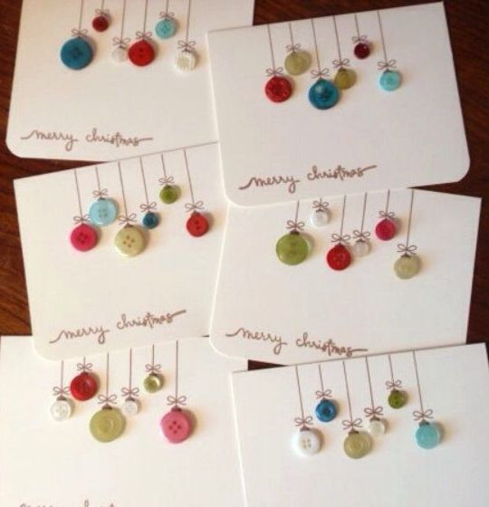 DIY Christmas Cards - Bright Balloons - Click pic for 25 Holiday Crafts