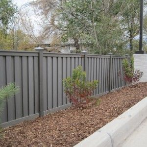 Utah - Wood Alternative Fence - Winchester Grey