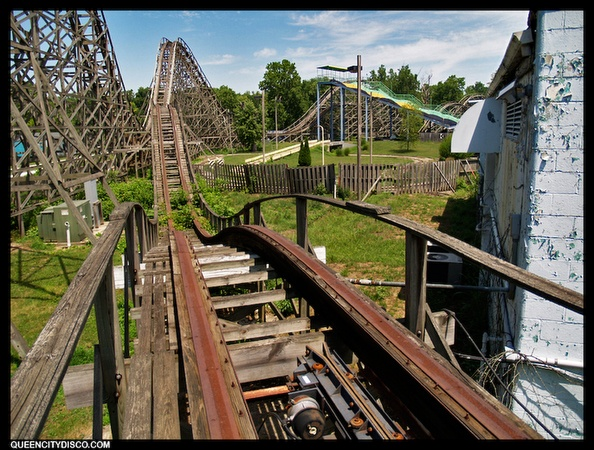 "The Screeching Eagle - Americana Amusement Park - Middletown Ohio - Hard to believe the place I worked at as a teenager is now on a episode of ""Life After People"" on the History Channel."