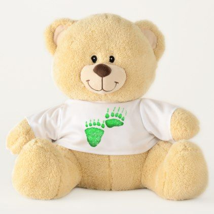 Green Bear Paws - Large Teddy Bear - baby birthday sweet gift idea special customize personalize