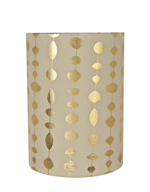 """Transitional Spider 8"""" Fabric Drum Lamp Shade"""