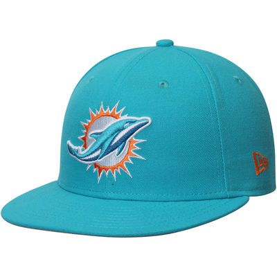 Miami Dolphins New Era Omaha 59FIFTY Fitted Hat - Aqua