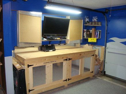 Hand Made Garage Cabinets And Storage