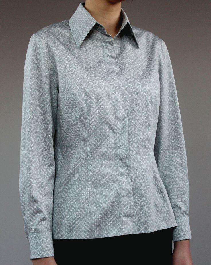 Рубашка из хлопкового сатина с жемчужным отблеском