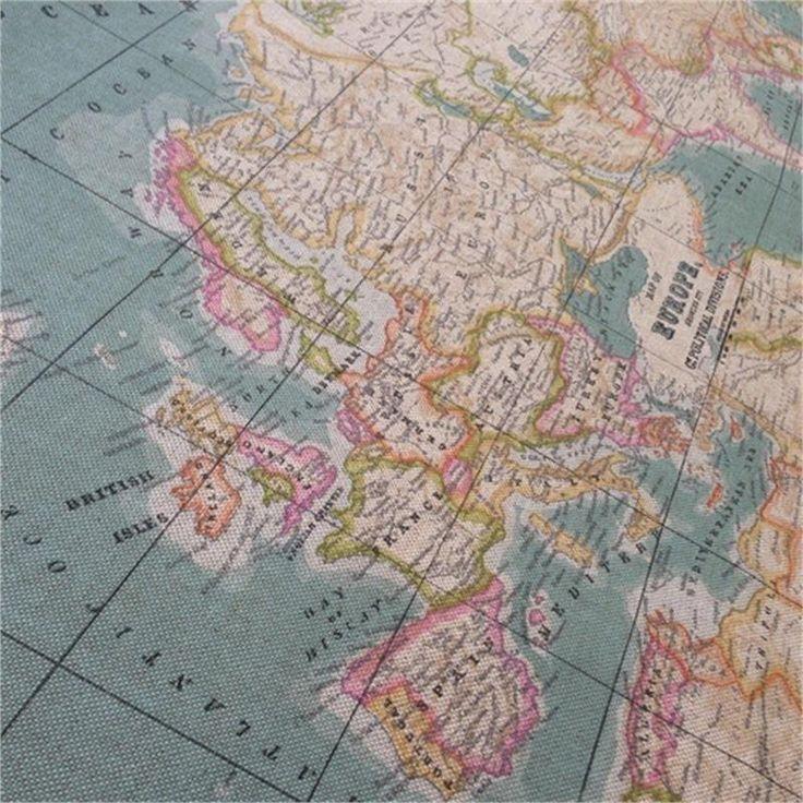 202 best shopping fabrics images on pinterest cotton fabric world map image 1 gumiabroncs Gallery