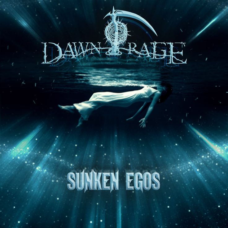 """2016 Dawn Of Rage - Sunken Egos [https://dawnofrageband.bandcamp.com/] original version: Toni Frissell """"Weeki Wachee Springs, Florida (1947)"""" #albumcover"""