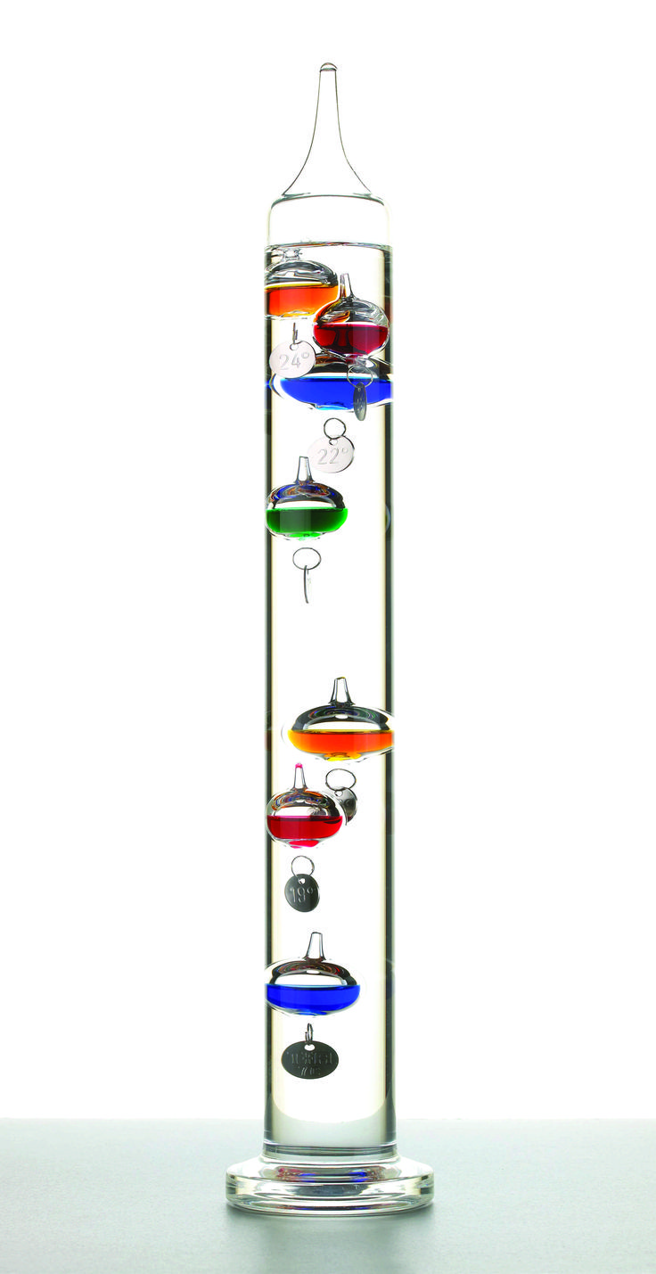 How does a Galileo thermometer work?