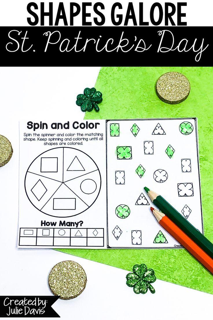 St Patrick S Day Math Shape Games Activities Teaching Shapes St Patrick Day Activities Kindergarten Activities [ 1104 x 736 Pixel ]