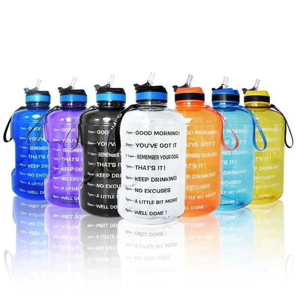Buildlife 1 Gallon Water Bottle With Straw And Time Marker Gallon Water Bottle Motivational Water Bottle Water Bottle